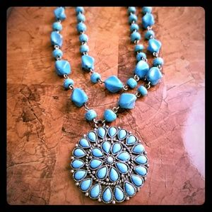 Turquoise pendant necklace - Robert Rose